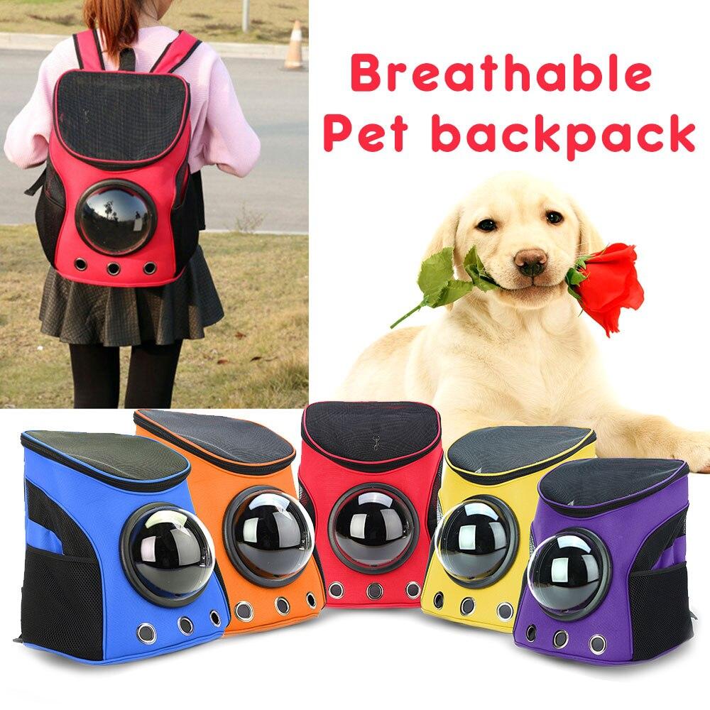 Space Capsule Waterproof Pet Backpack Pet Bag Shoulder Bag Travel Bag Dog Cat Carrier Cute Lightweight Multi-function