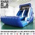 Синий надувной слайд с водой бассейн на заднем дворе аренда использование
