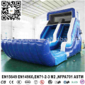Blue inflatable slide with water pool for backyard rental using