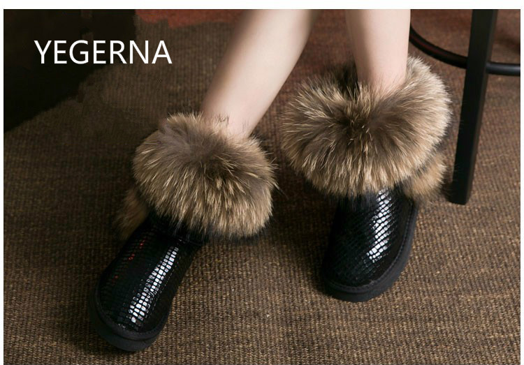 """2016 Australia Women's Natural Real Fox Fur Snow Boots 100% Genuine Leather women Boots Female Winter Shoes success as a real estate agent for dummies """" australia nz"""