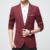 Nuevo Slim Fit Cotton jacket Casual Hombres Chaqueta con Un Solo Botón rojo Gris Hombres Traje Chaqueta 2016 Otoño invierno Abrigo Masculino Suite
