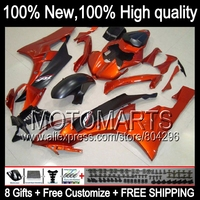 Body Body For YAMAHA YZFR6 06 07 YZF 600 YZF R 6 Orange Black YZF600 JK9619