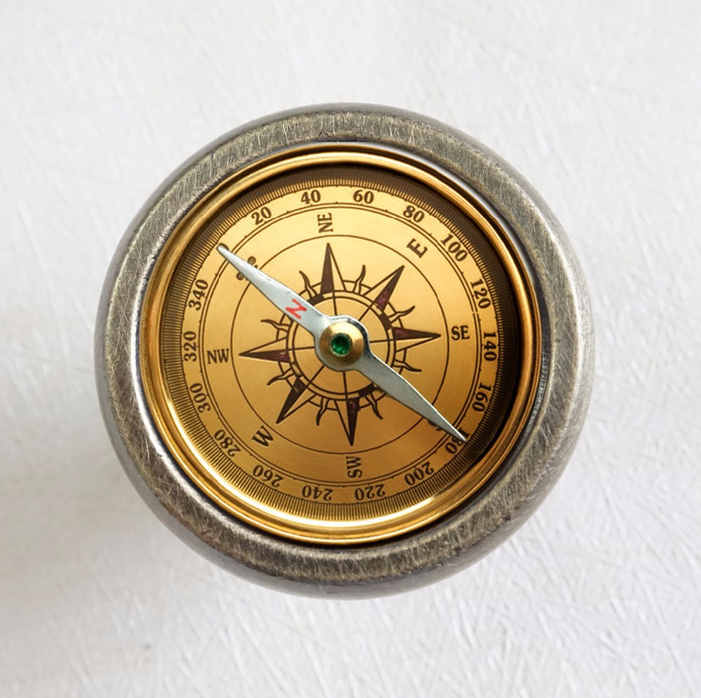 Compass Drawer Knobs Antique Bronze Crystal Dresser