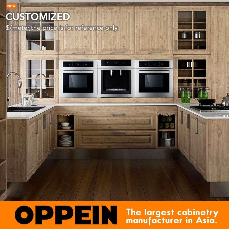 Custom Modern PP Wooden Kitchen Furniture OP15-PP08