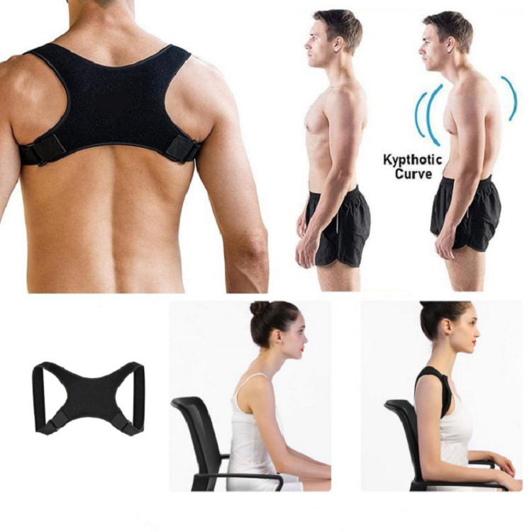 Vest Lumbar Spine Men Shaper Slimming Girdle Posture Corrector Back Straightener Shapewear Straight Shoulder Pulling Underwear