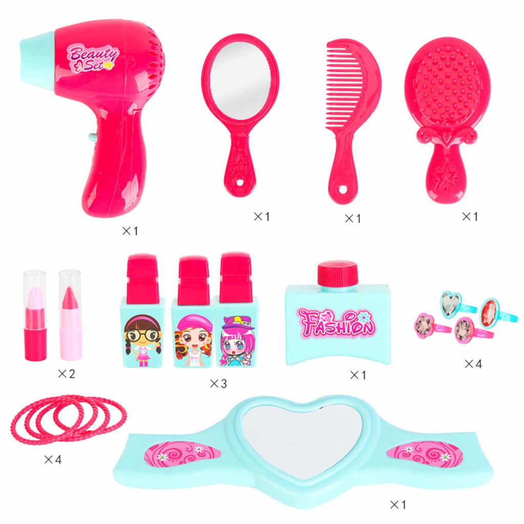Детская ролевая игра для косметики и игрушечный макияж комплект для девочек Красота салон принцессы вечерние ролевые игры игрушки T6 #