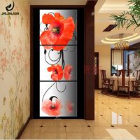 Triptych Poster Flowers Canvas Arts Prints Home Decoration Modern Painting Picture In The Corridor Cuadros DecoraCion