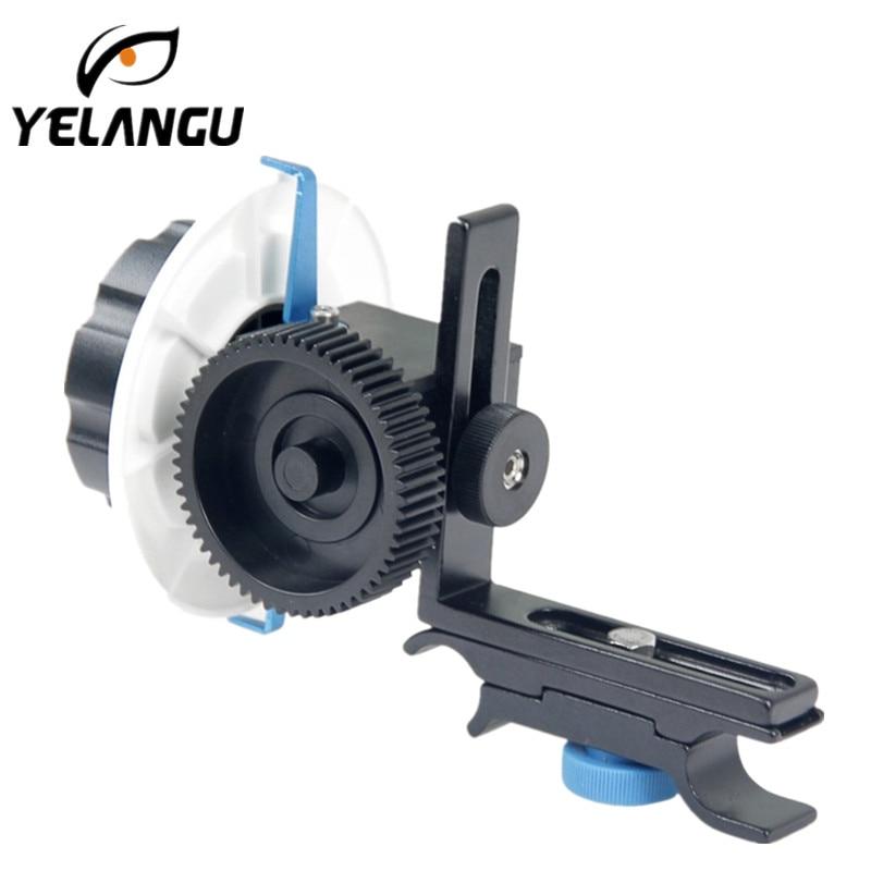 YELANGU YLG0103F suivre Focus F0 avec courroie de vitesse réglable pour Canon/Nikon D3300/SONY DSLR appareils photo/caméras vidéo