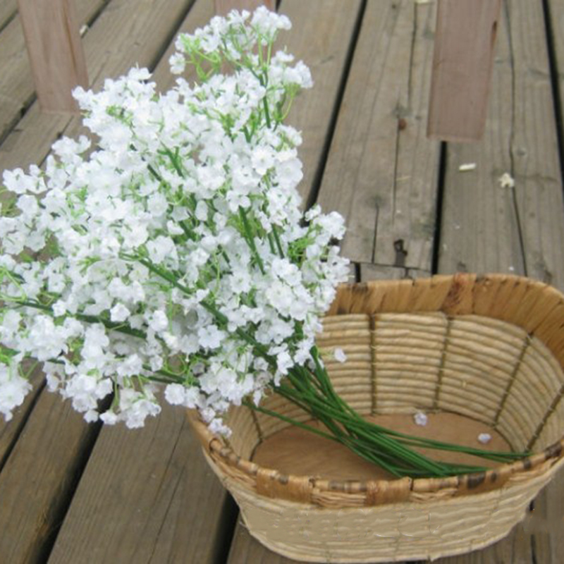 Rustic Artificial Flowers White Gypsophila 11