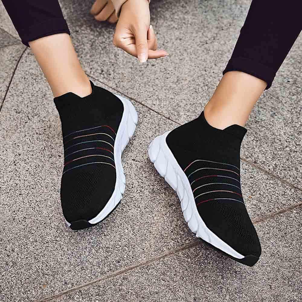 KLV ランニングシューズライトブラックグレーのスニーカー女性男性スポーツ靴女性ジムフライワイヤ zapatos デ hombre パラ vestir #2