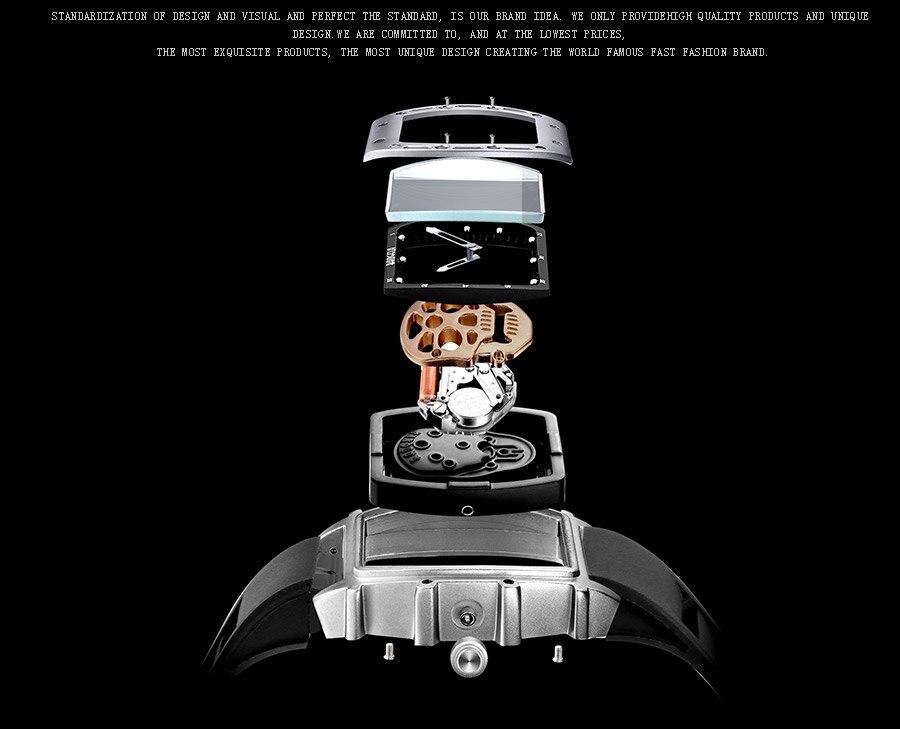 Água Luminosa Relógio Relogios masculinos 1612G-Silver