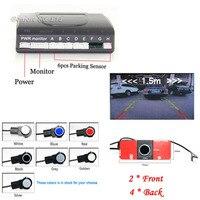 16MM Original Flat Sensors Car Video Parking Sensor Auto assistance Radar image System Parktronic with 6 sensors Parking system