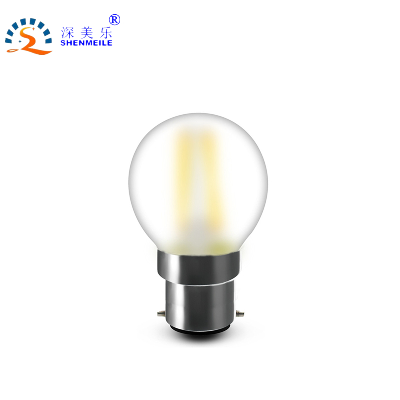 RXR High Quality B22 LED G45 bulb frosted replace 40w LED 4w 220V Vintage Decorative Design Globe Ball Filament Lamp Light