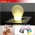 Envío gratis nueva luz LED noche Mini tarjeta de la luz Holiday lámpara Mix Colos 20 unids/lote regalo venta al por mayor