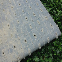 Jeans Fabric Perforated Hollow Out Water Washing Pad Dyeing Fabric Garment Skirt Shirt