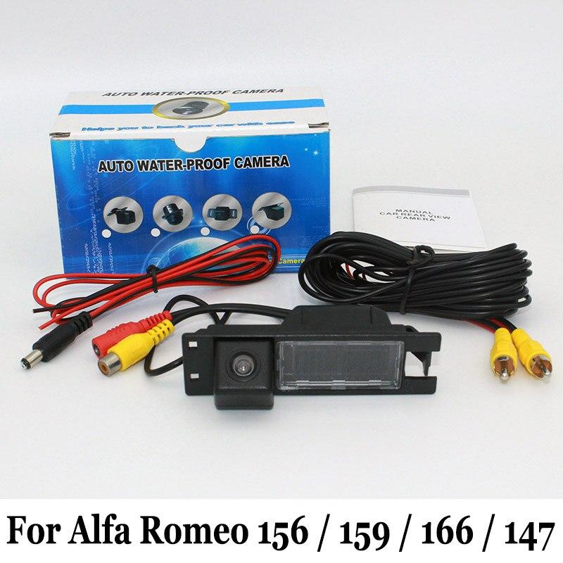 Широкоъгълна камера за задно виждане / За Alfa Romeo 156/159/166/147 / Кабелна или безжична нощно виждане Обратна камера