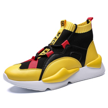 Men Running Shoes High Top Spip-on Fashion Breathable Sport Shoes Jogging Breathable Mixed Color Men Footwear Trainer Sneakers running shoes men high top lace up fashion breathable sport shoes jogging breathable mixed color soft footwear trainer sneakers
