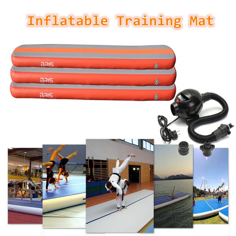 Gymnastics Air Balance Beam inflatable Practice Training Mats Air Tumbling Track high quality 4 1 0 2m inflatable air track gymnastics air track trampoline for water games