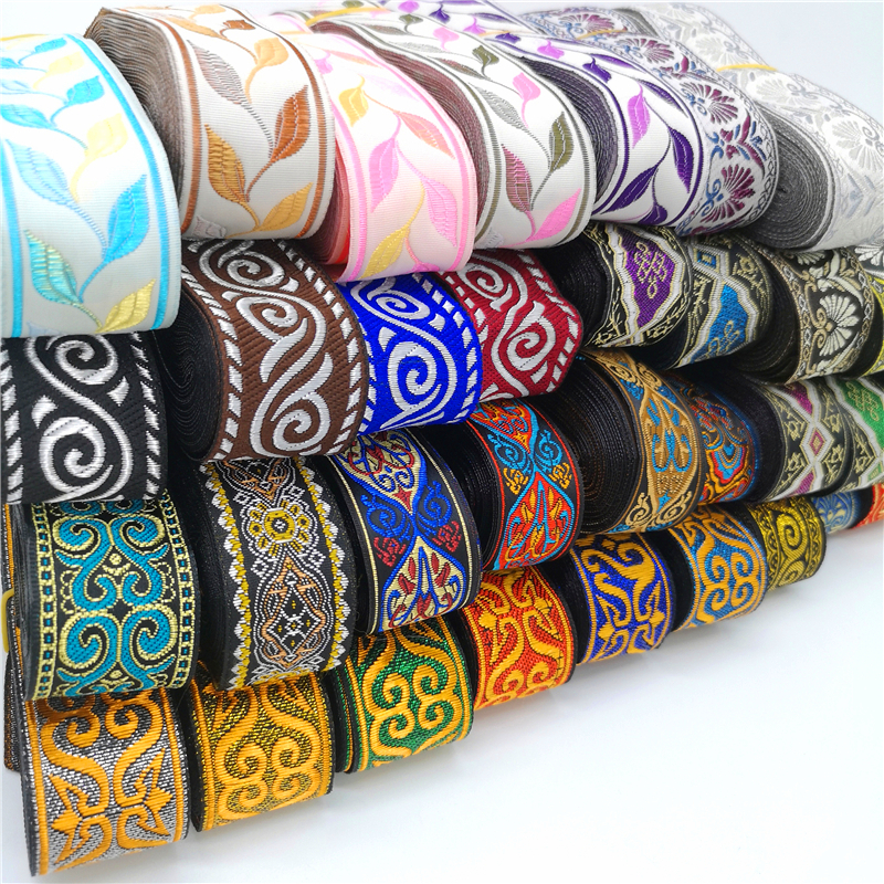 3 Yards Vintage Ethnic Embroidery Lace Ribbon Boho Lace Trim DIY Clothes Bag Accessories Embroidered Fabric