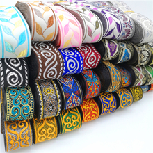 3 ярда винтажная Этническая кружевная лента с вышивкой Бохо кружевная отделка DIY Одежда сумка аксессуары вышитая ткань
