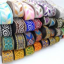 Fita de renda bordada, 3 jardas étnicas vintage boho renda acessórios bolsa de roupas bordados de tecido diy