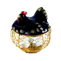 Ceramic Egg Basket Iron collection basket Kitchen decoration Creative kitchen fruit and vegetable basket Egg basket