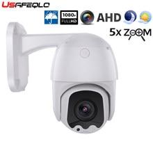 Cctv minicâmera externa abs dome ahd 1080p, ptz ptz controle xvi 2mp 6mm e 5x zoom coaxial ptz controle dia noite ir 30m