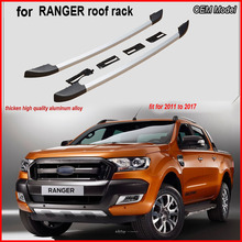 For Ranger luggage bars roof rails rack Carrier,aluminum alloy+ABS,install by screws not glue tape,promotion.Asia free shipping.