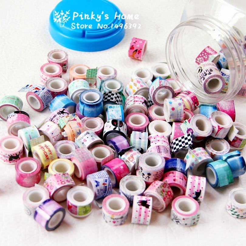 10PCS/LOT Mini Color Tape DIY Decorative Adhesive Tape Masking Tape Sticker Cartoon Diary Lace Tape Cinta Adhesiva Decor