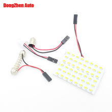 1X Auto 48 LED 3528 Panel T10 W5W BA9S T11 Festoon Dome Interior Lamp Car C10W C5W T4W H6W W6W Parking Light Bulb Car Styling