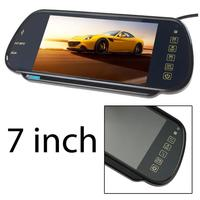 HD 7 Inch TFT Color Mirror Monitor Remote Control Touch Button Suppot 2AV Input For Reversing