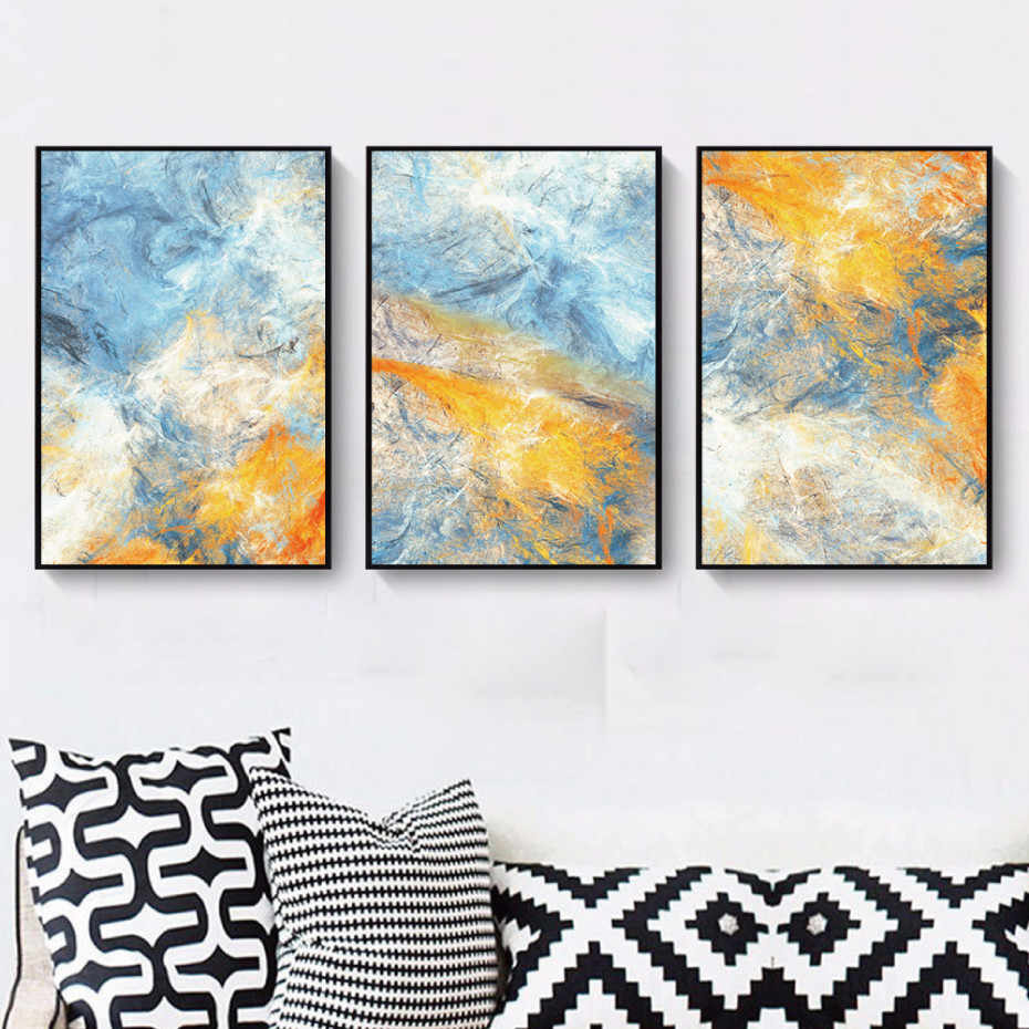 Abstract Painting Landscape Posters And Prints Wall Art Canvas Oil Painting Decoration Pictures Home Decor For Living Room