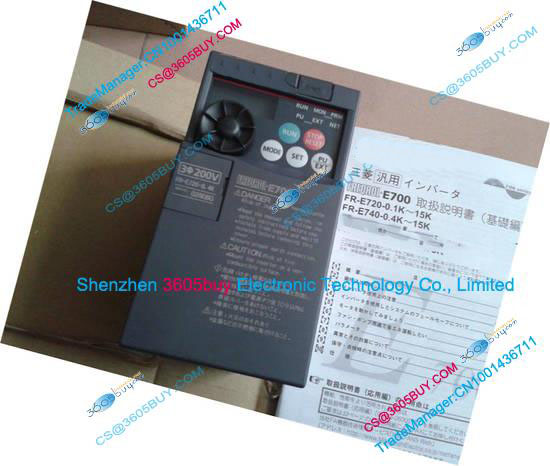 Three phase 220V inverter FR-E720-0.4K 200~240V 2.5A 0.4KW 0.2~400Hz New Original