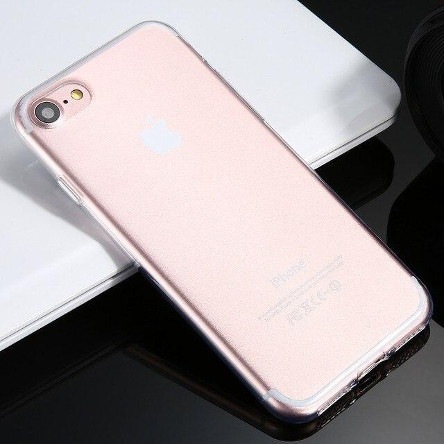 Apple Iphone 7 6 S Плюс Прозорий Чохол Супер Тонкий м'який ТПУ Силіконові Чохли Fundas Для Iphone 6 S 6 Plus Задня Кришка N
