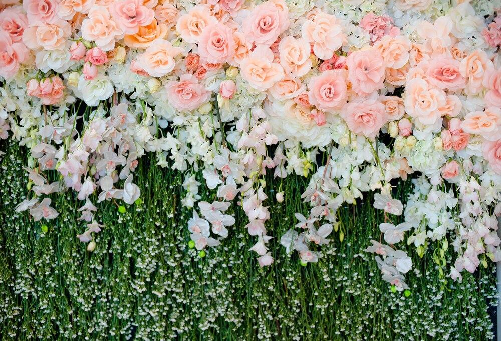 HUAYI 8x12ft belles fleurs mariage toile de fond Art tissu photographie fond nouveau-né Photo Studio Prop toile de fond XT-5897