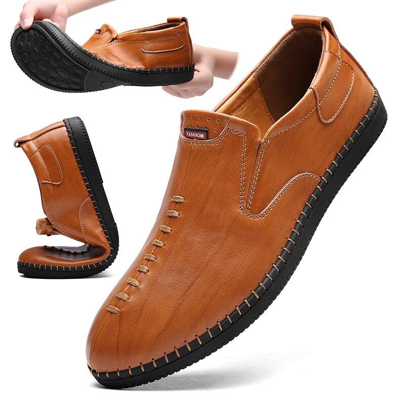 Mocassins Designer Main Thestron Casual Slip brown Hommes on En Véritable Shoes 2018 Black À Marque Mâle Cuir Shoes La Chaussures Conduite w7aErqx7