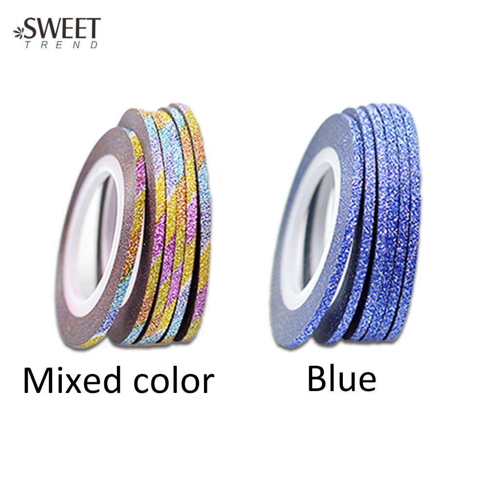 1 Roll 12 Farben 2mm Glitter Selbstklebende Decor Nail Rollen ...