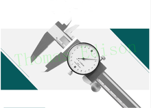 Wholesale prices 0-150mm 0.03mm Dial type industrial stainless steel dial calipers bidirectional shockproof pointer header with vernier caliper