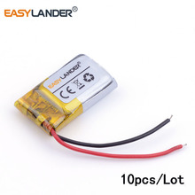 10pcs/Lot 401220 80mah three.7v lithium Li ion polymer rechargeable battery For MP3 MP4 MP5 Bluetooth headset 3D glasses Sensible watch
