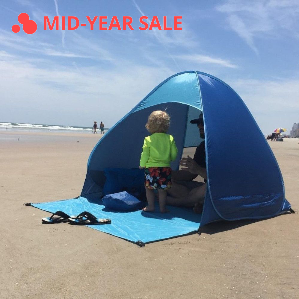 Fully Automatic Beach Tent Outdoor Camping Beach Shade Tent Speed Open Outdoor UV Protection Sunshelter Camping Accessories