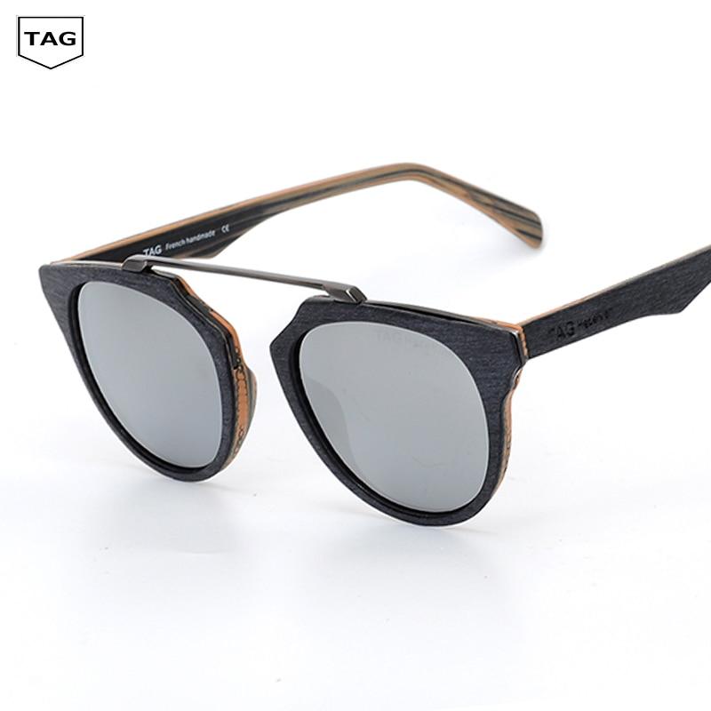2019 タグウッドメガネ男性女性ラウンド偏光サングラス木目レトロファッションを駆動するドライバ oculos デゾル TH0361  グループ上の アパレル アクセサリー からの サングラス の中 1