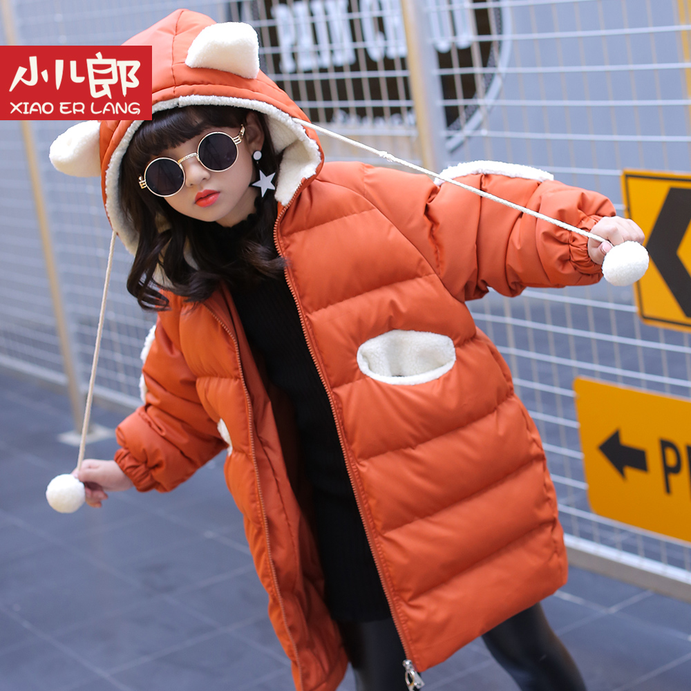 Children jacket coat 2017 winter thick warm cartoon cute long hooded size for 4 5 6 7 8 9 10 11 12 13 14 years girl clothes children cowboy jacket coat hooded 2017 winter new tide thick cashmere long outerwear size 4 5 6 7 8 9 10 11 12 13 years girl