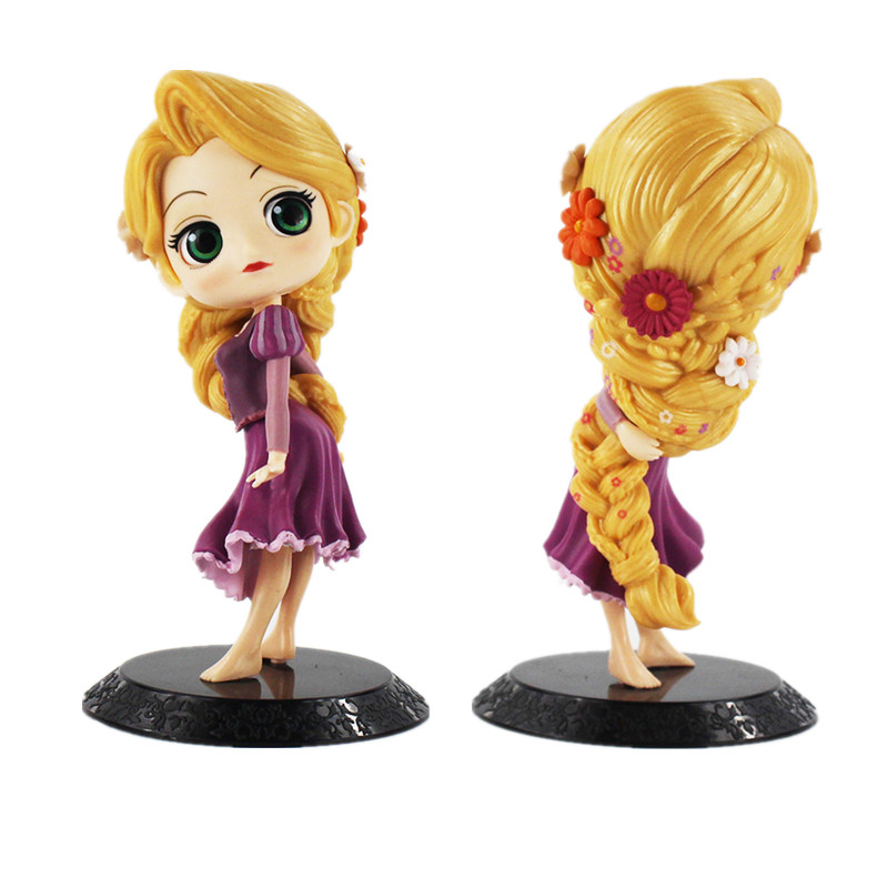 14cm Tangled Rapunzel Q Posket Figure Model Toy action PVC Figure Model Toy Hot Princess Doll Toy Gift for girl good collection polar marine animal model toy penguin reindeer polar bear blue whale walrus sea l toy model sets pvc figure