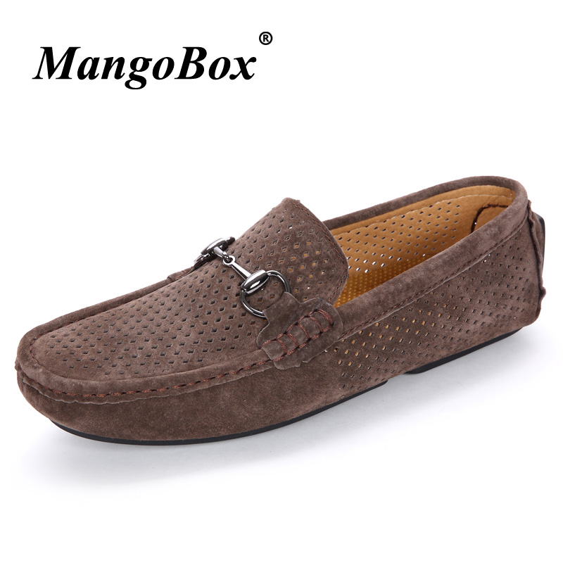 Mens Loafers Shoes Khaki Brown Mens Pig Leather Slip On Shoes - Men's Shoes - Photo 4