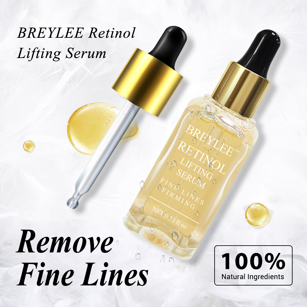 BREYLEE 100%Natural Retinol Lifting Firming Serum Collagen Essence Remove Wrinkle Anti Aging Face Skin Care Fade Fine Lines Best