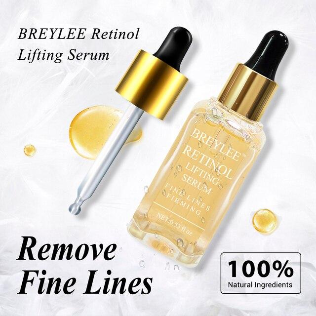 BREYLEE ธรรมชาติ 100% Retinol Lifting Firming เซรั่มคอลลาเจน Essence ลบริ้วรอย Anti Aging Face Skin Care Fade Fine เส้นที่ดีที่สุด