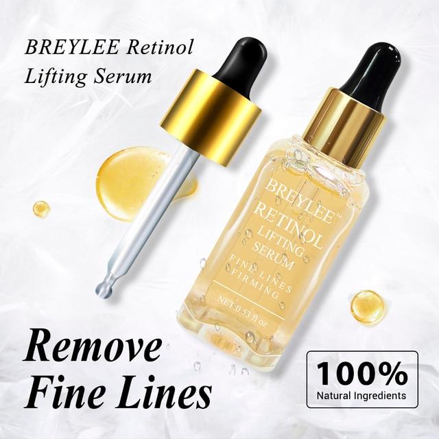 BREYLEE 100% 天然レチノールルリフティングファーミングセラムコラーゲンエッセンス削除しわアンチエイジング顔スキンケアフェードライン最高