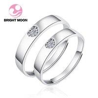 ירח בהיר 925 כסף סטרלינג טבעת אירוסין טבעות זוג חתונת תכשיטי כסף טבעות תכשיטי Mens Ringen אנל Aneis Bague