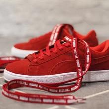 abe15013420 Sapatos de Puma PUMA SUEDE X TRAPSTAR Samurai Samurai Vermelho Preto  tamanho 36-44(