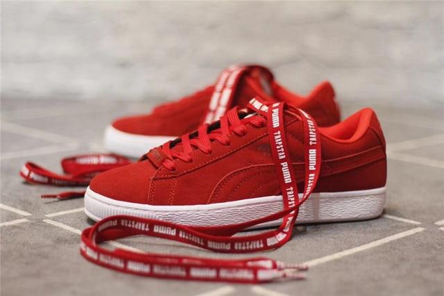 Puma shoes PUMA SUEDE X TRAPSTAR Red Samurai Black Samurai size 36 ... 8b5ebe73f